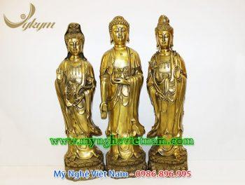 tượng tây phương tam thánh đứng cao 60cm