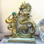 chữ phúc hóa rồng nhả ngọc phong thủy đồng