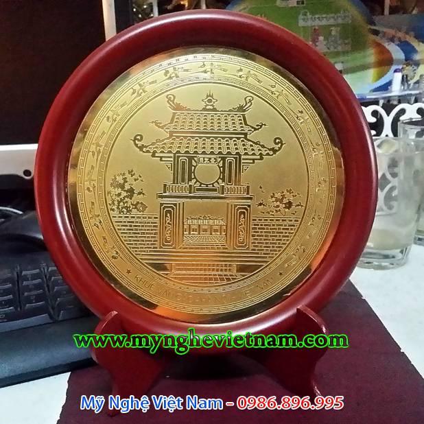 đĩa quà tặng ăn mòn khuê văn các văn miếu quốc tử giám