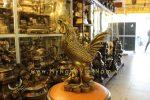 tượng gà đồng phong thủy cao cấp năm đinh dậu cao 40cm