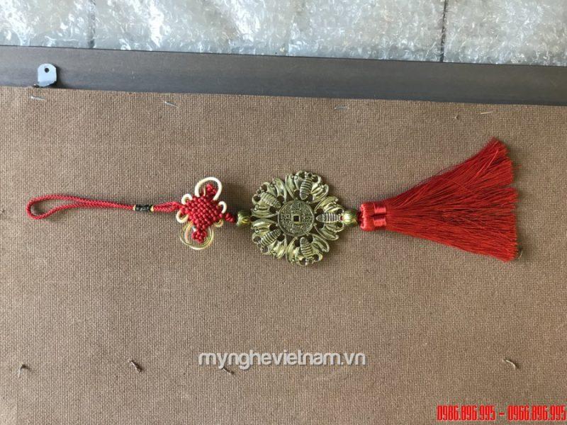 dây treo vòng ngũ phúc dơi bằng đồng đk 7cm