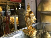 tượng gà đồng mạ vàng cao cấp 22cm