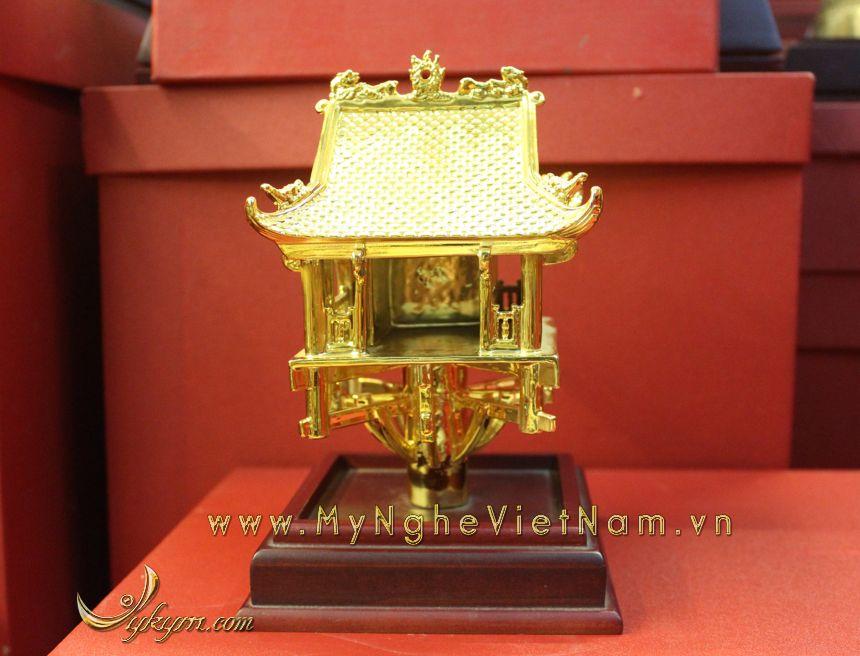tượng chùa 1 cột 18cm mạ vàng làm quà tặng cao cấp0