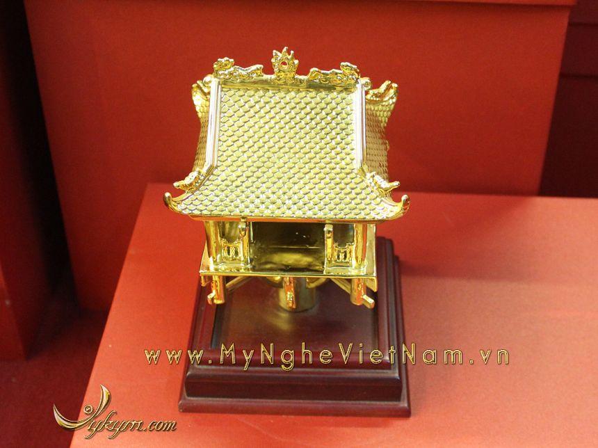 tượng chùa 1 cột mạ vàng làm quà tặng cao cấp 2