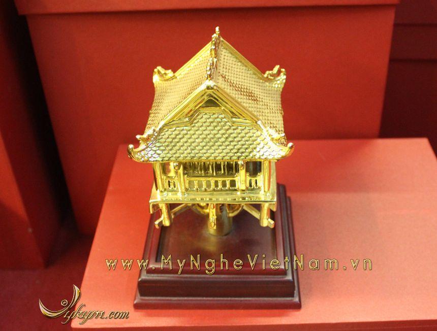 tượng chùa 1 cột mạ vàng làm quà tặng cao cấp 3