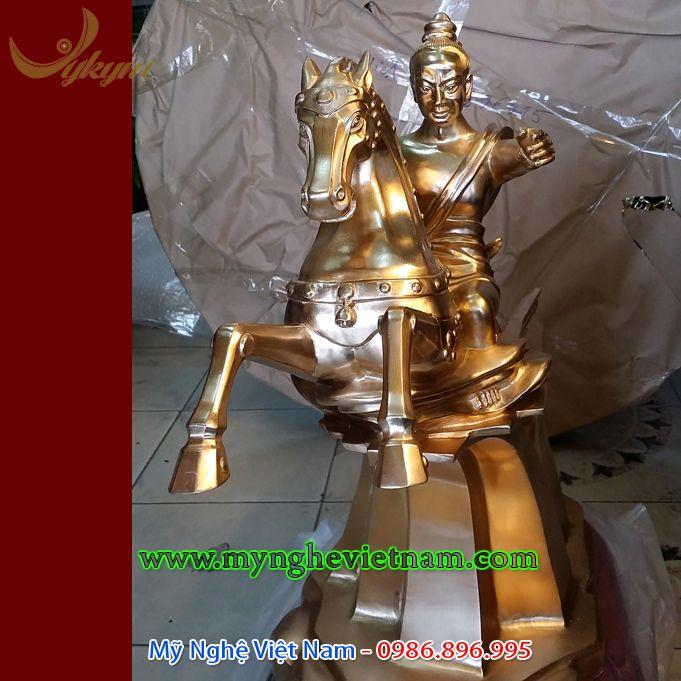 Tượng thánh gióng cao 60cm bằng đồng