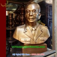 tượng bác giáp đúc đồng đỏ cao 45cm
