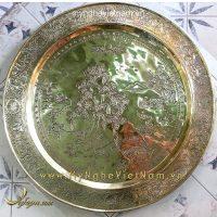 dịch vụ chạm mâm đồng cũ thành hoa văn sắc sảo trang trí nội thất phòng thờ