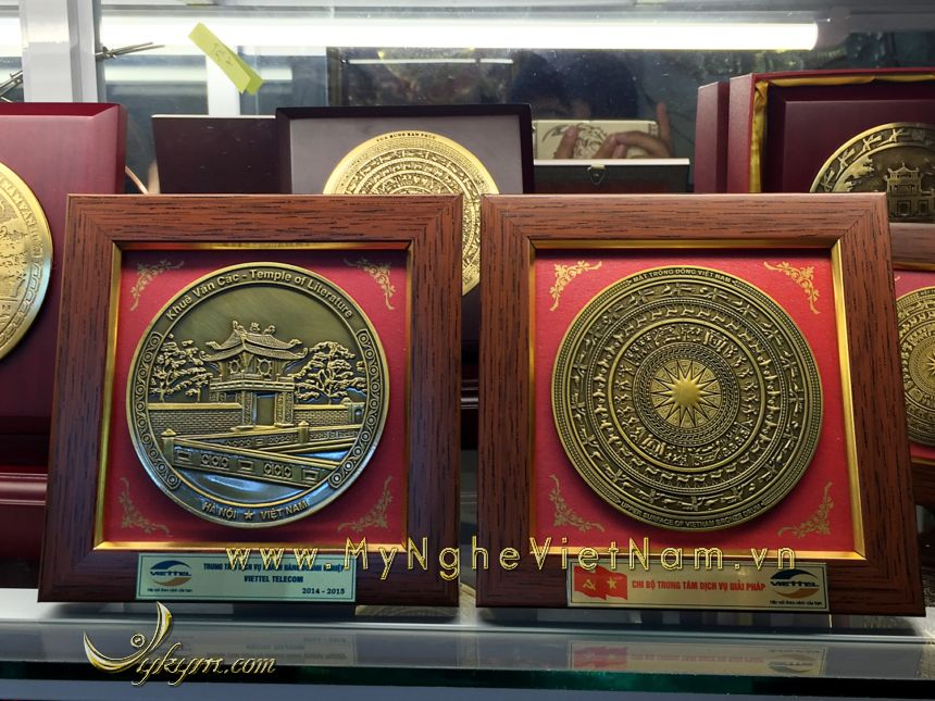 tranh mặt đĩa quà tặng lưu niệm khuê văn các