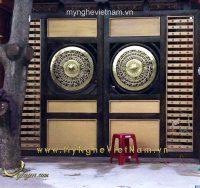 sản xuất mặt trống đồng gắn cổng đk 80cm