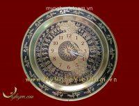 mặt trống đồng bản đồ có đồng hồ