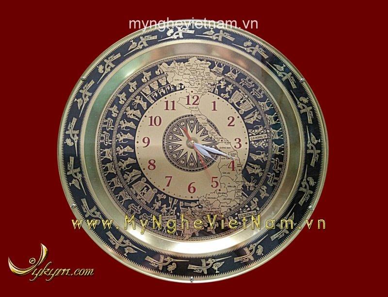 Mặt trống đồng hồ có bản đồ bằng đồng cao cấp0