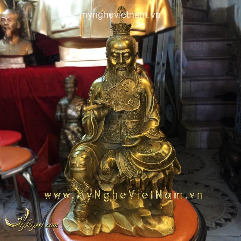 Tượng thái thượng lão quân ngồi cầm quạt cao 40cm0