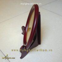 đĩa lưu niệm quà tặng mặt trống đồng ăn mòn 16cm