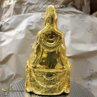 Tượng quan thế âm bồ tát mạ vàng cao cấp 25cm