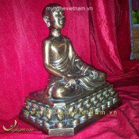 tượng trần nhân tông bằng đồng giả cổ cao 25cm