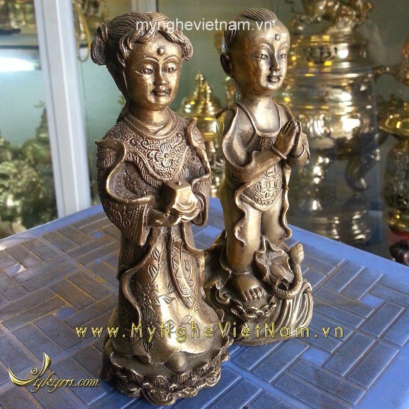 tượng tiên đồng ngọc nữ cao 15cm
