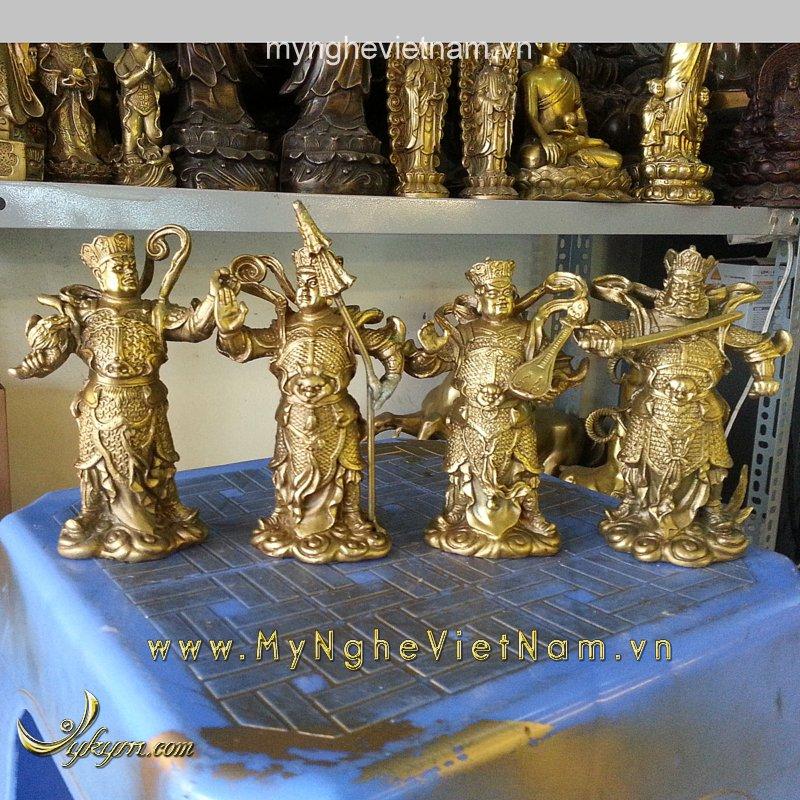 Tượng tứ đại thiên vương thiên tướng cao 10cm0