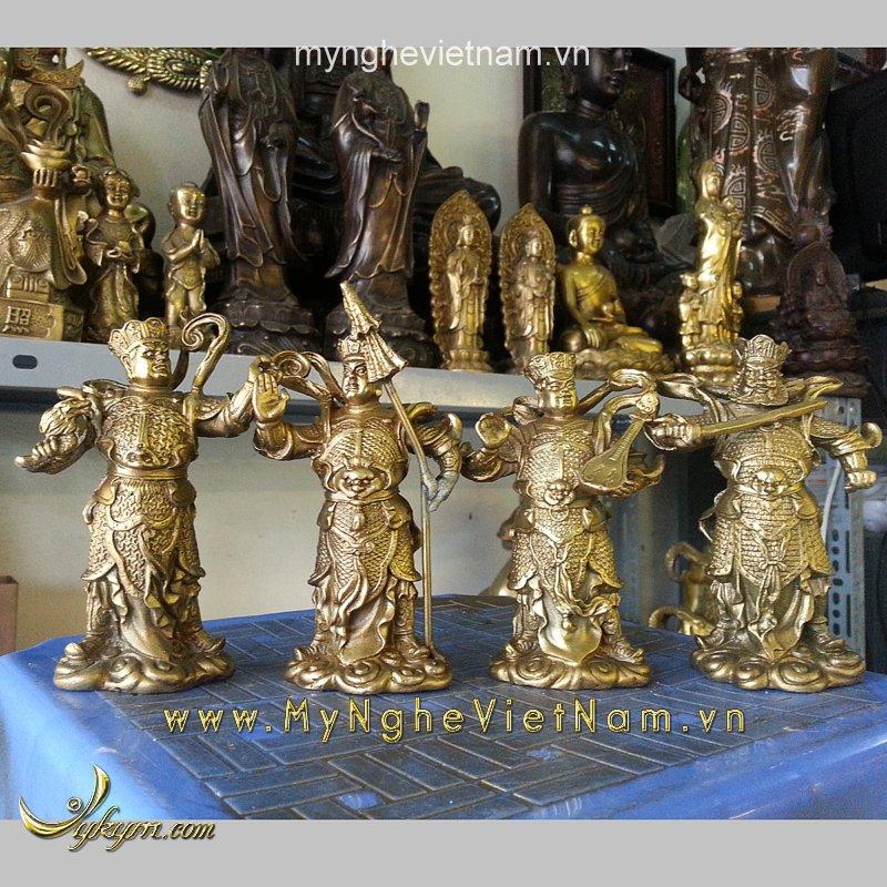 tượng tứ đại thiên vương thiên tướng cao 10cm