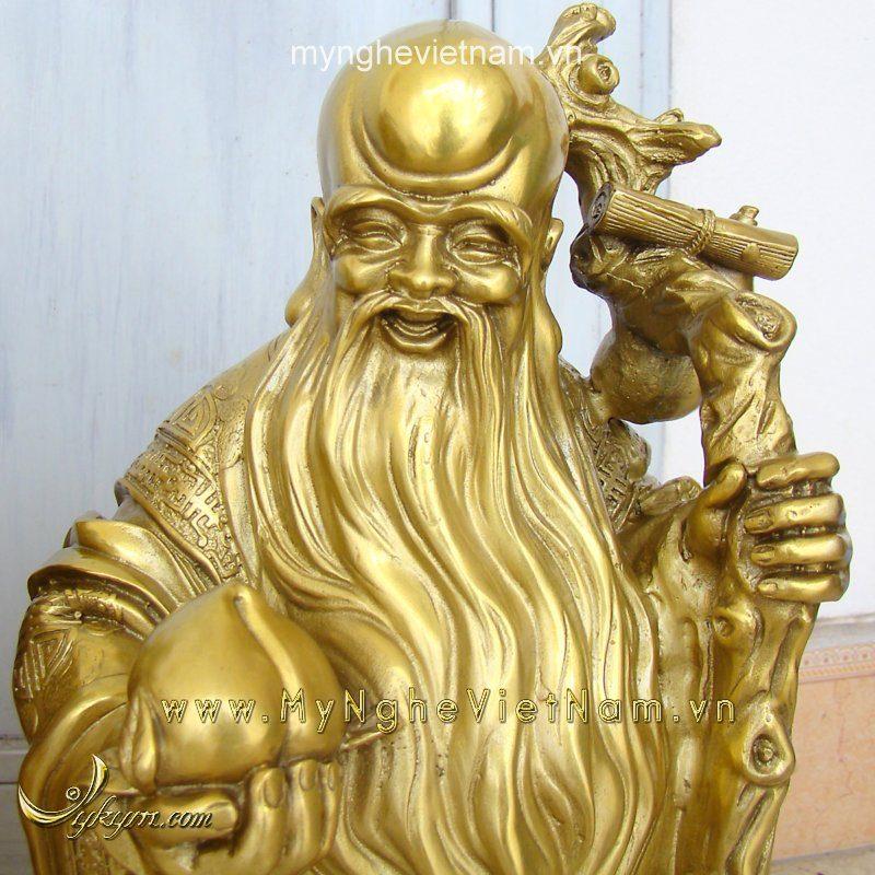tượng tam đa cao 36cm đồng vàng