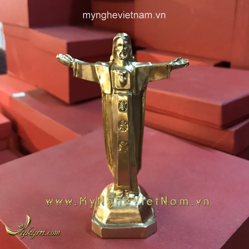 tượng chúa giê su cứu thế cao 12cm