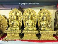 tượng tây phương tam thánh ngồi cao 36cm