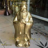 tượng khổng tử cao 40cm bằng đồng