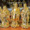 tượng tam đa phúc lộc thọ mạ vàng 18cm