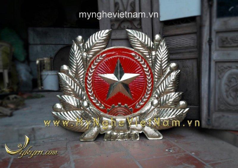 Huy hiệu quân đội bằng đồng, quân hiệu treo tường 1mx1m20