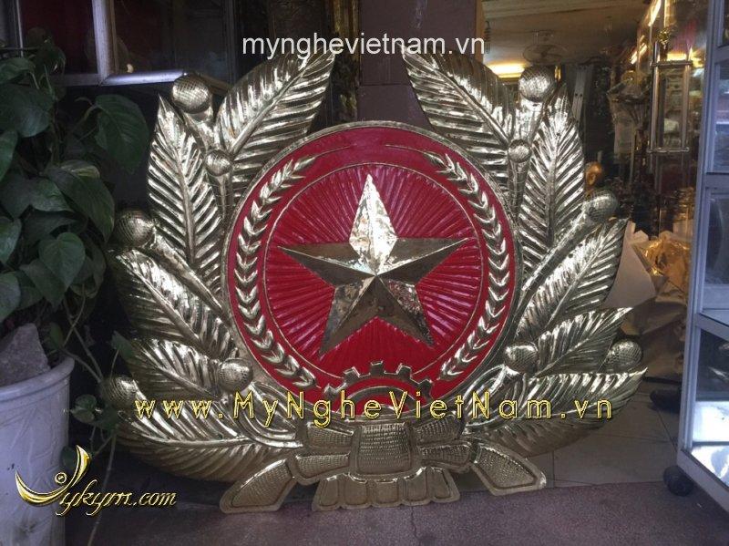 huy hiệu quân đội bằng đồng, quân đội treo tường dài 1m2
