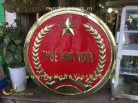 Logo thuế nhà nước bằng đồng 1m2