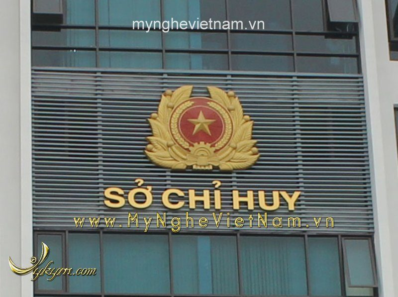 Quân đội hiệu treo tòa nhà 2m5