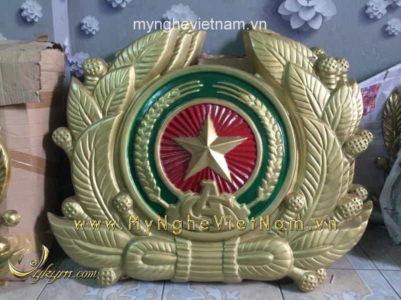 nơi sản xuất logo huy hiệu công an quân đội, quốc huy bằng nhựa composite