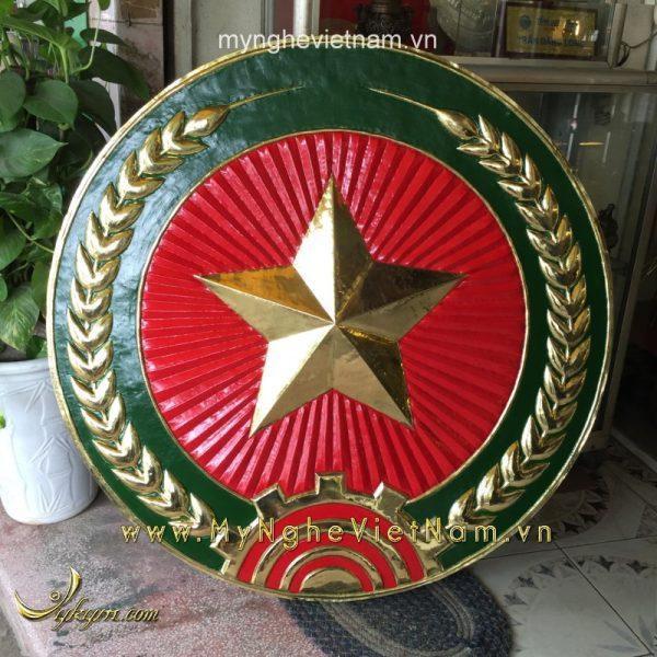 Huy hiệu quân đội đk 1m