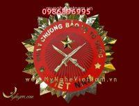 Huân chương bảo vệ tổ quốc bằng inox vàng gương