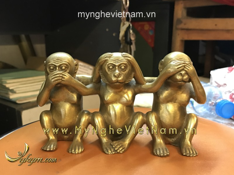 tượng khỉ tam không cao 10cm0