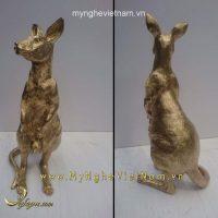 tượng kangaroo bằng đồng
