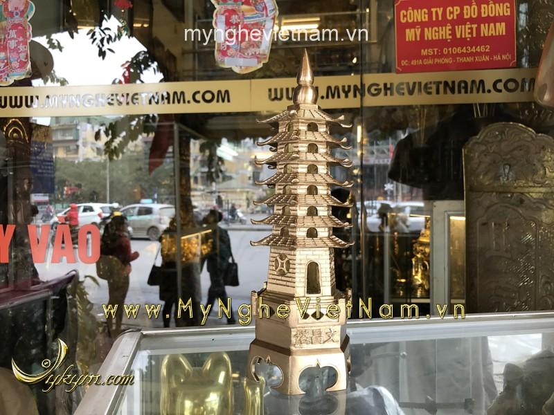 Tháp văn xương 7 tầng cao 25cm đúc máy tinh xảo0