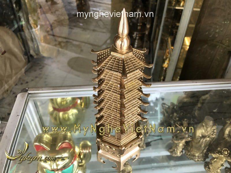 tháp văn xương 7 tầng cao 26cm đúc máy tinh xảo