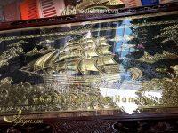 Tranh thuận buồm xuôi gió bằng đồng 1m7x1m