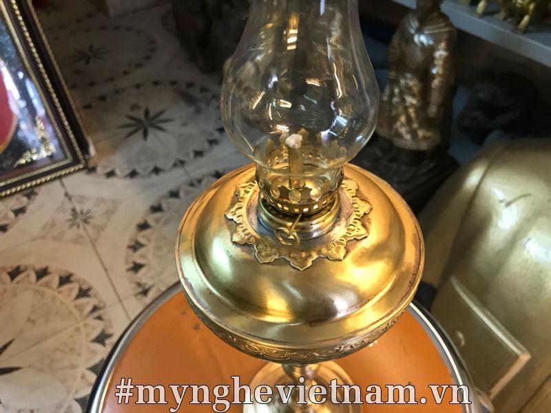 đèn dầu bằng đồng, đèn dầu hoa kỳ để bàn thờ cúng