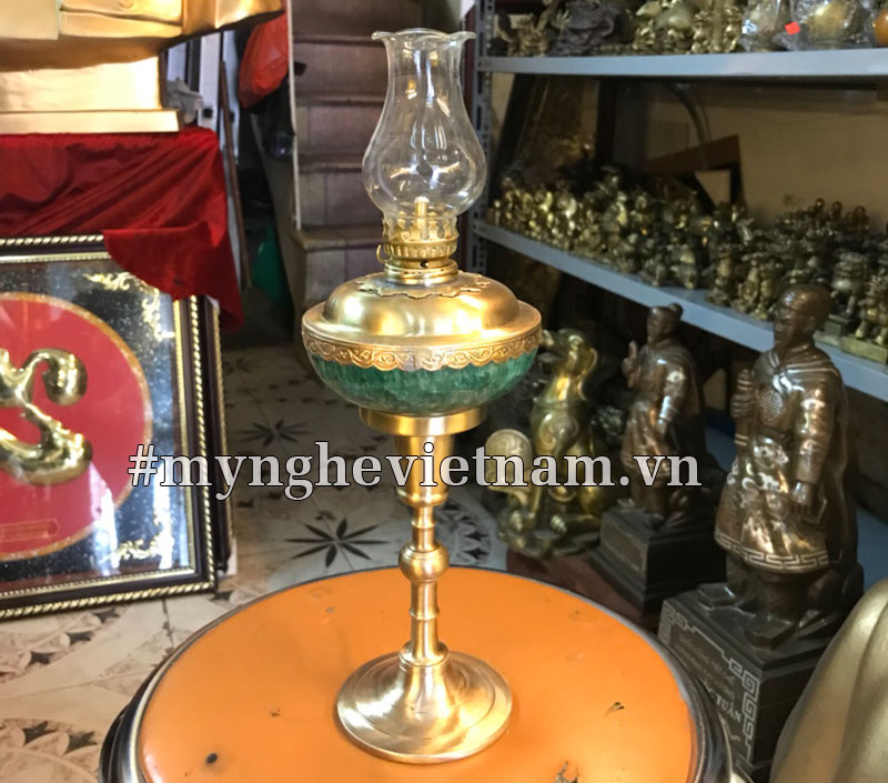 Đèn dầu bằng đồng, đèn dầu hoa kỳ để bàn thờ cúng0