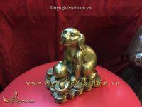 tượng chó đồng 12 con giáp ngồi tiền