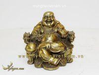 Tượng Phật di lặc ngồi ghế rồng 13cm