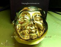 Tượng 4 mặt cảm xúc bằng đồng mạ vàng để bàn làm việc