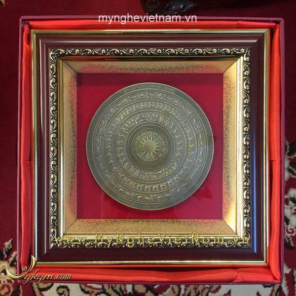 Tranh mặt trống đồng đúc 25x25cm làm quà tặng