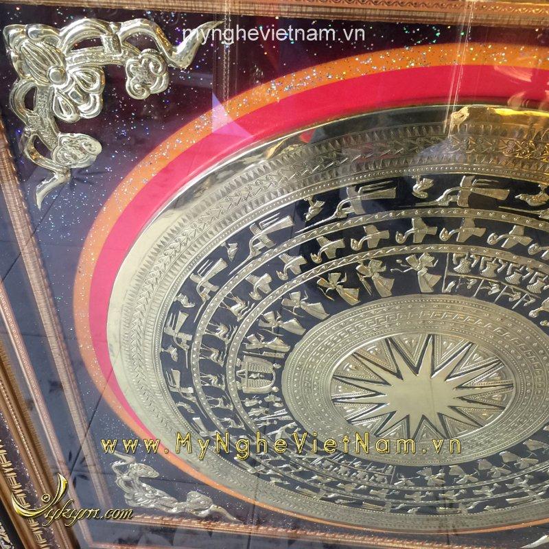 Tranh mặt trống đồng gò 1mx1m tranh trí nội thất phòng khách