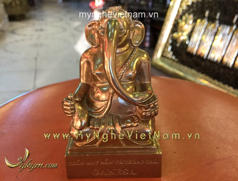 Thần may mắn Ganesa đầu voi 10cm0
