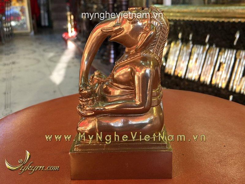Thần may mắn Ganesa đầu voi 10cm