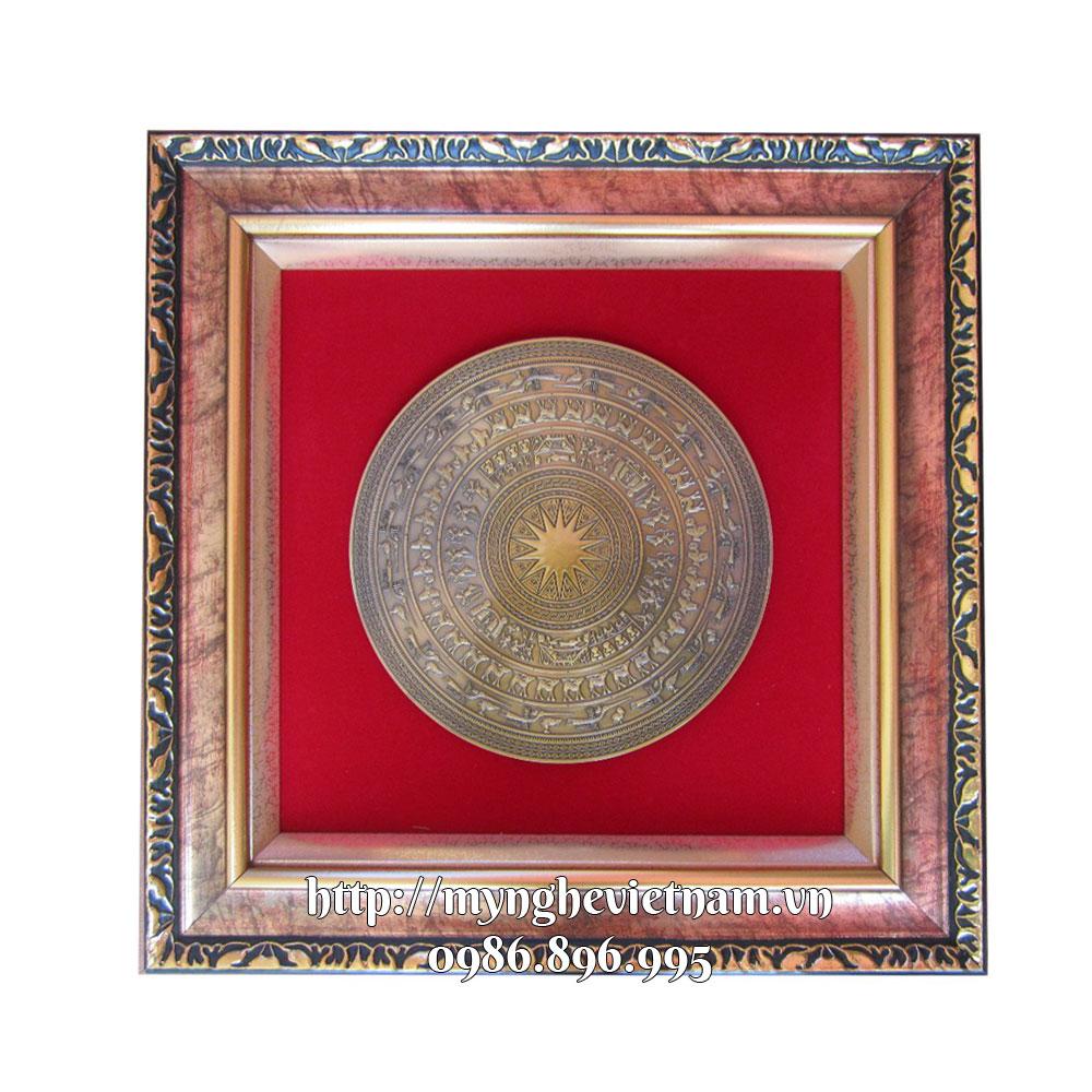 Tranh trống đồng quà tặng đối tác kích thước 46x46cm0